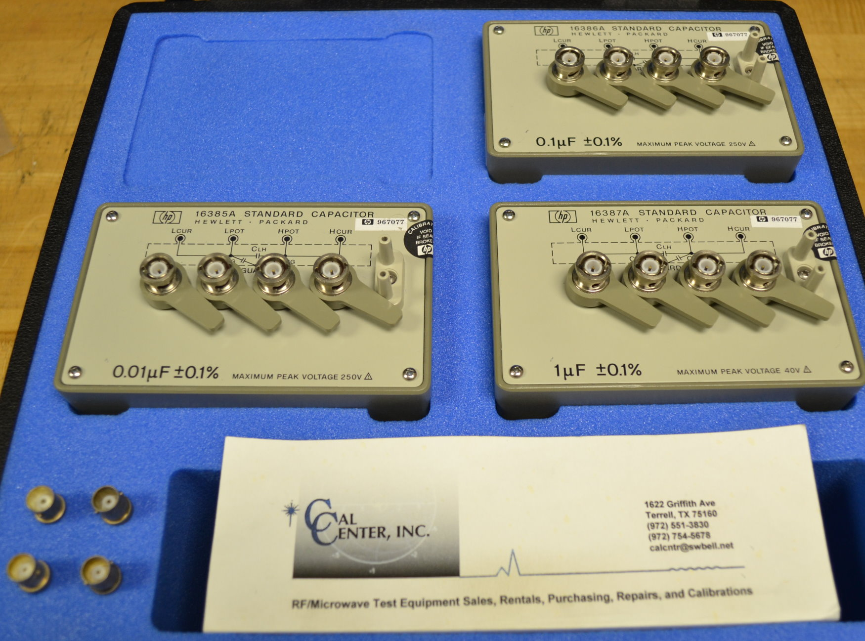 Keysight 16380C Capacitance Standard Set