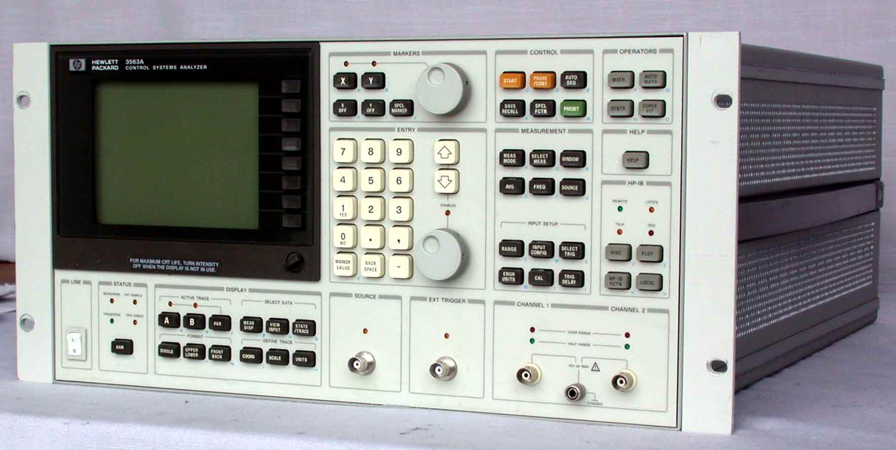 Agilent 3563A Control Systems Analyzer, Fft & Ttl, 64 ?Hz To 100 Khz, 150
