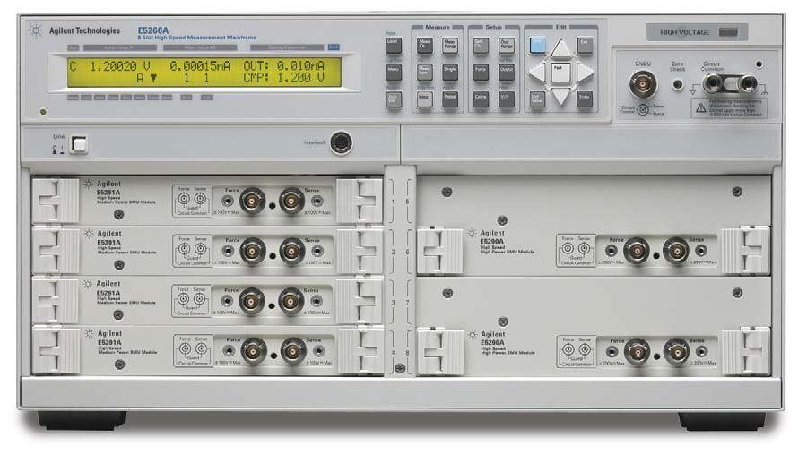 Keysight E5260A Iv Analyzer / 8 Slot Precision Measurement Mainframe