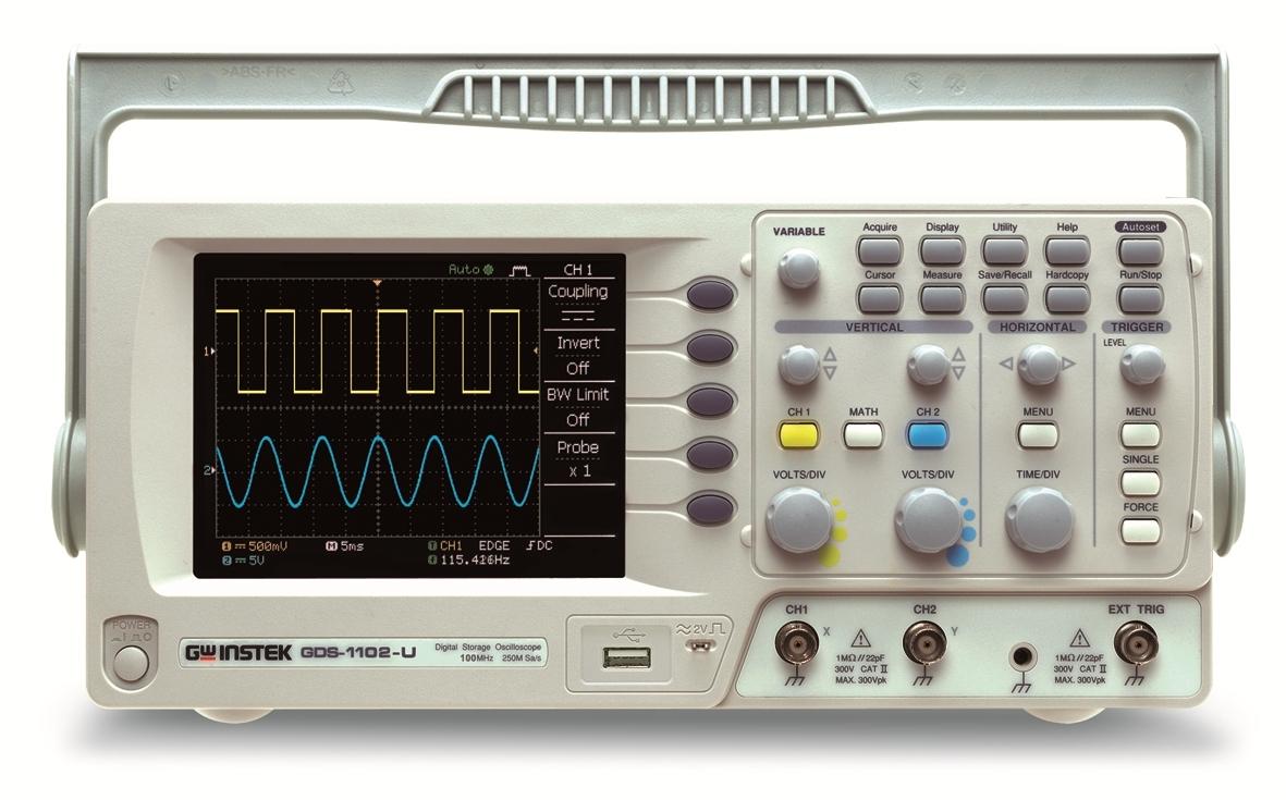 Gw Instek Gds-1102U 100Mhz, 250Ms/S With Usb,Sd Card Slot