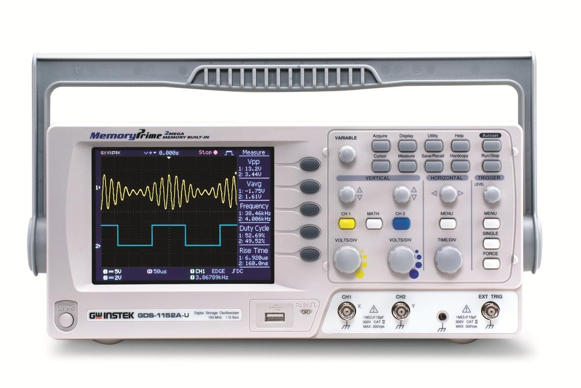 Gw Instek Gds-1152A-U 150Mhz, 1Gs/S With Usb,Sd Card Slot