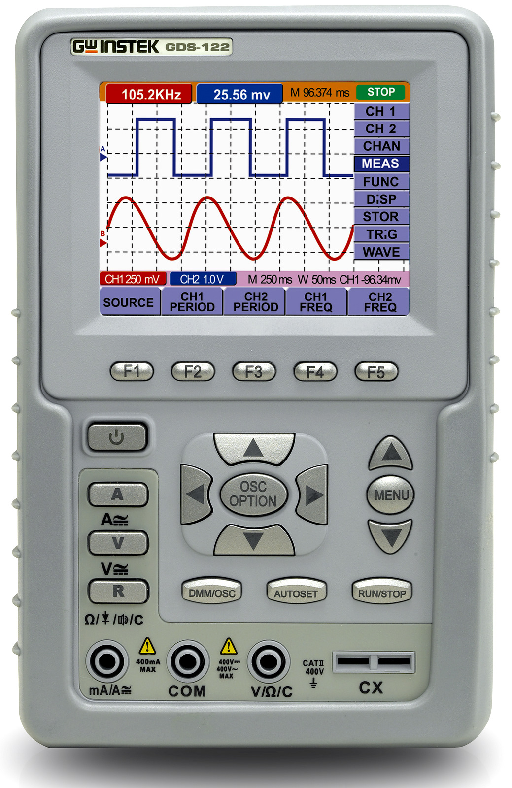 Gw Instek Gds-122 20Mhz 2Ch Handheld Oscilloscope