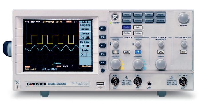 Gw Instek Gds-2202 200Mhz, 1Gs/S, 2 Ch. With Rs-232, Usb