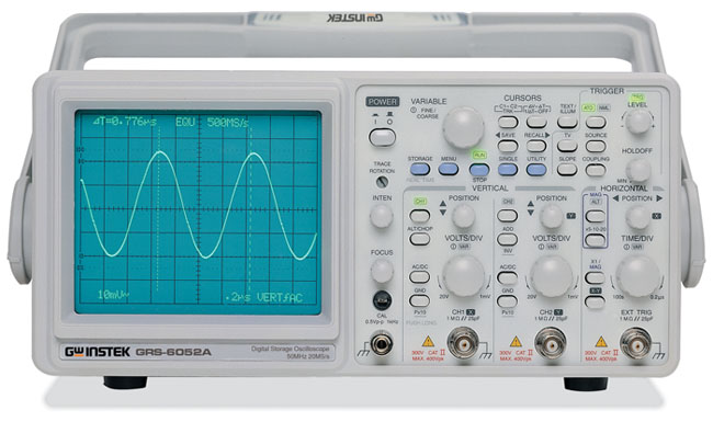 Gw Instek Grs-6052A Dc~50Mhz, 100Msa/S, 2Kw/Ch X 2 Real Time Storage Oscilloscop