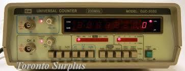 Gw Instek  200 Mhz, Universal Counter