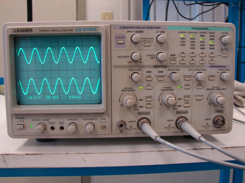 Leader Electronics Ls8106A Analog Oscilloscope