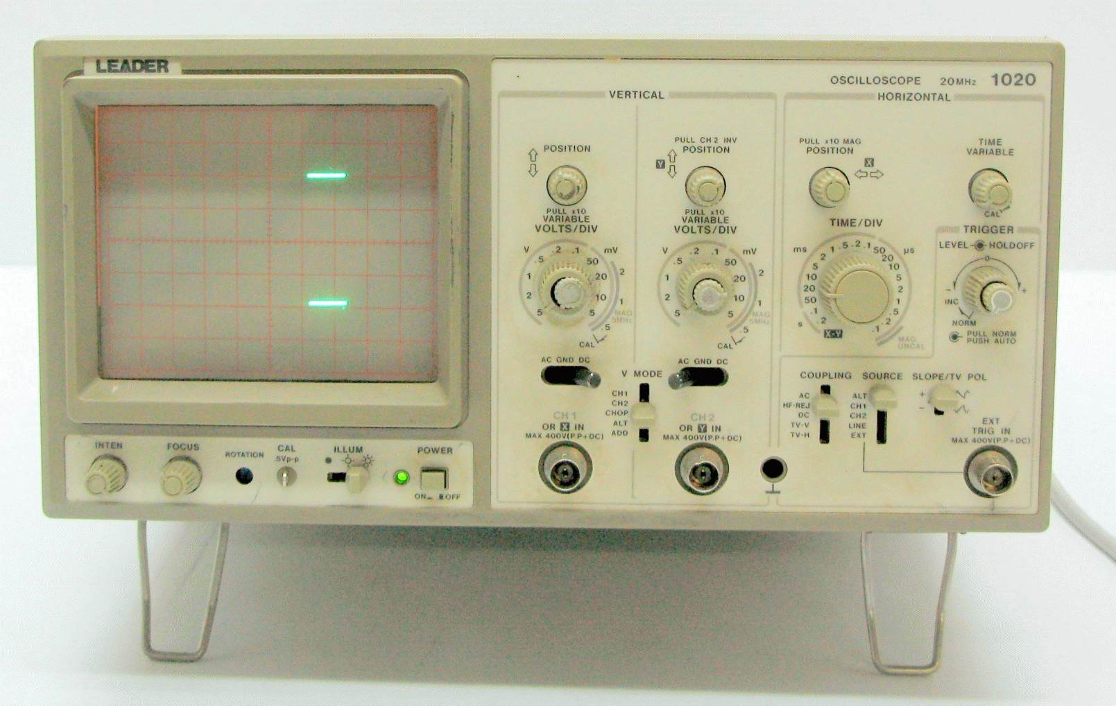 Leader Electronics Ls 1020 20Mhz, 2Ch Oscilloscope