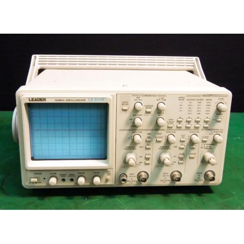 Leader Electronics Ls 8106 100Mhz, 3 Ch Analog Oscilloscope