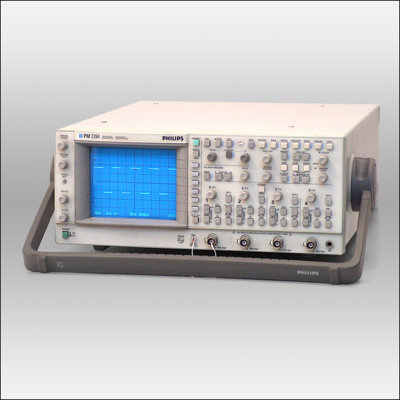 Phillips Pm3394A 200 Mhz, Used Analog/Digital Oscilloscope