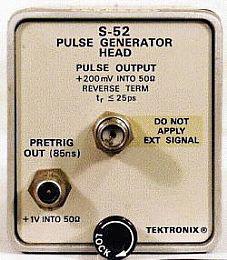 Tektronix S-52 Pulse Generator Head