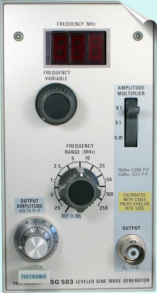 Tektronix Sg503 Leveled Sine Wave Generator 250Khz To 250Mhz