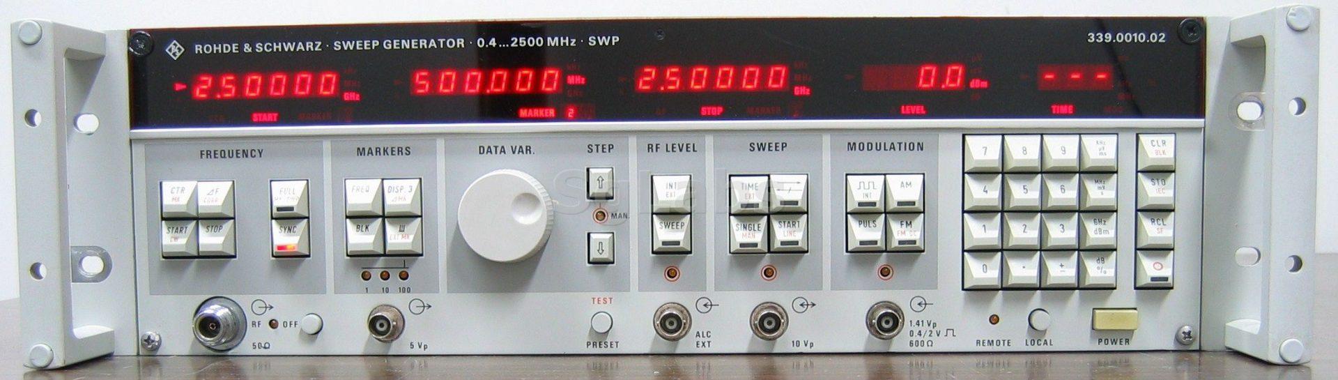 Rohde & Schwarz Swp 2.5 Ghz Sweep Signal Generator