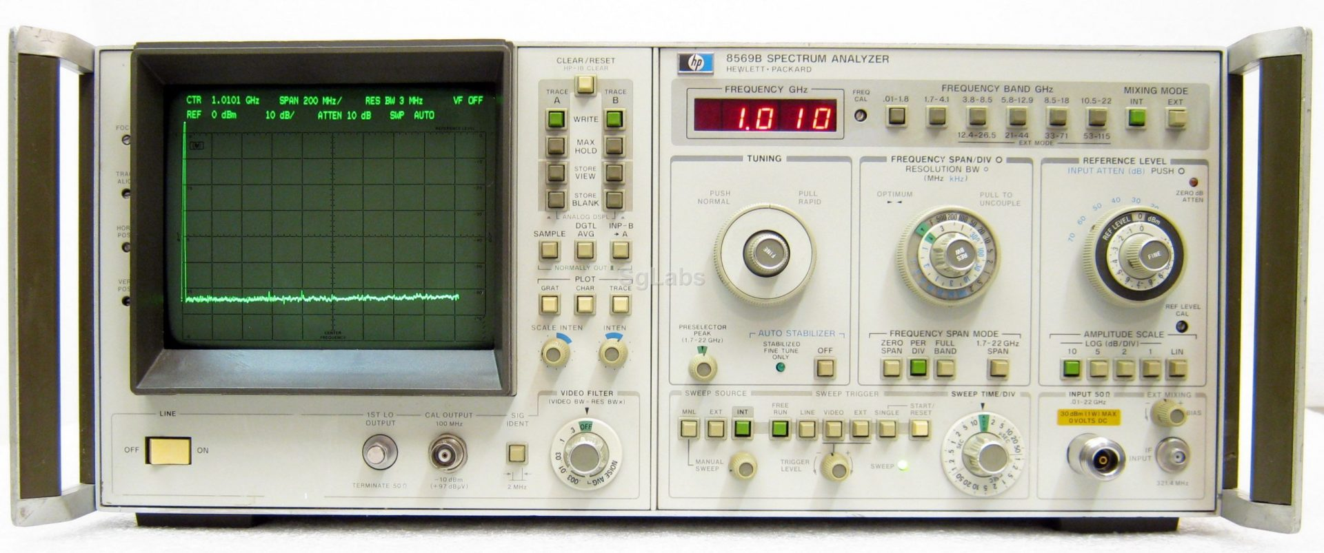 Agilent 8569B 10 Mhz To 22 Ghz Microwave Spectrum Analyzer
