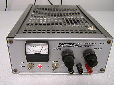 Sorensen Qrd40-.75 Power Supply (Dc)