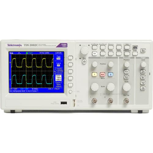 Tektronix Tds2002 60Mhz 2 Channel 1 Gs/S Color Oscilloscope
