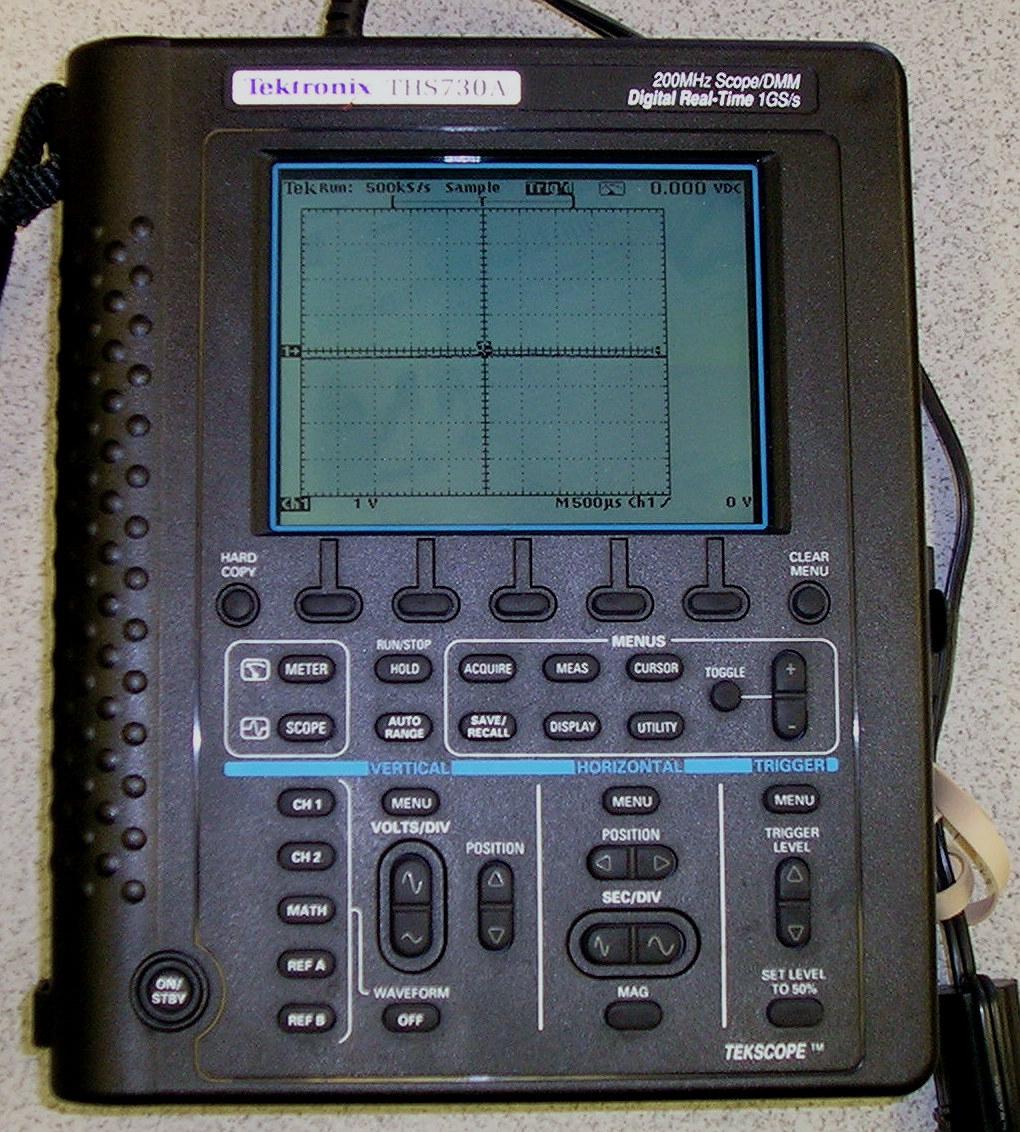 Tektronix Ths720P 100 Mhz, 2 Ch. Hand/Batt. Oscilloscope/Dmm