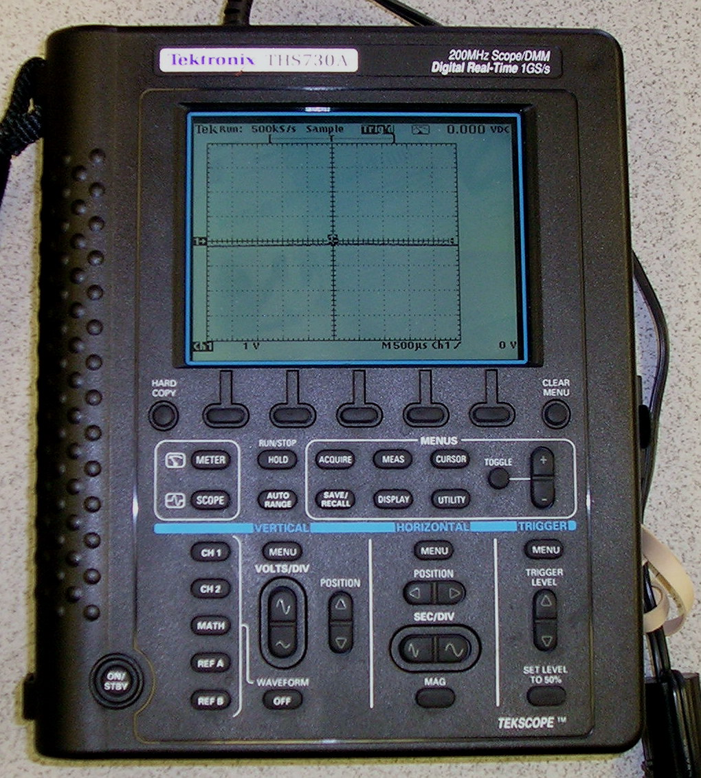 Tektronix Ths730A 200 Mhz, 2 Ch, Handheld Battery Operated Scope/Dmm