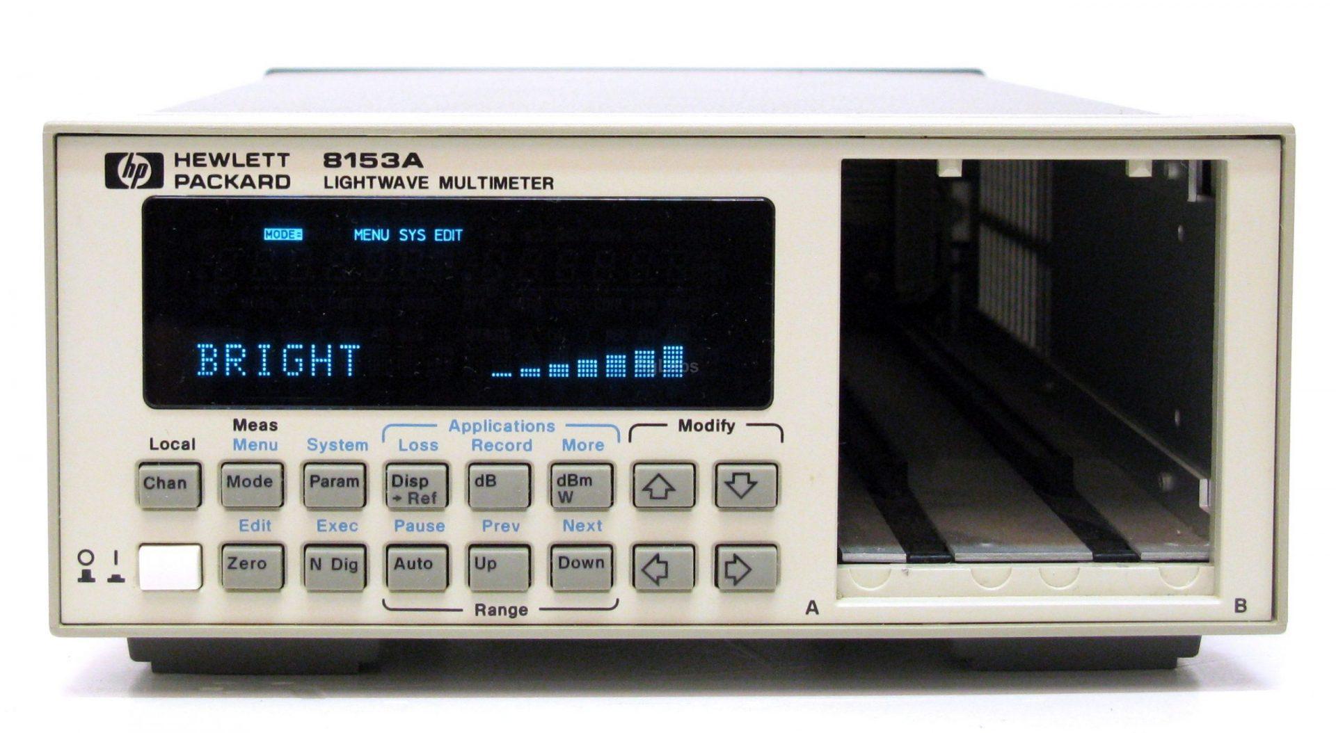 Agilent 8153A Optical Meter